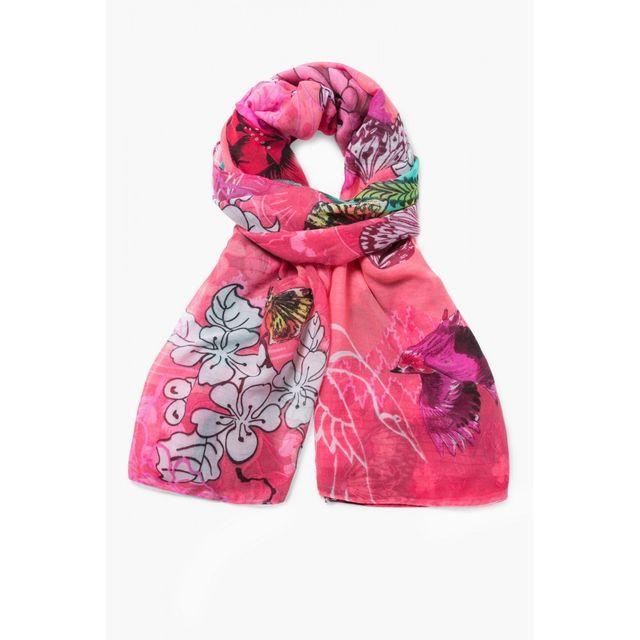 Desigual - Foulard Rectangle Boho Mix Rose 71W9WE6 - pas cher Achat   Vente  Echarpes, foulards - RueDuCommerce b3748e26acd