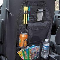 Peraline - Organiseur de voiture - Rangement dossier de siège - 6 poches filets - noir
