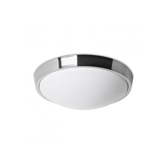 Leds C4 Plafonnier rond salle de bain Bubble Led Ip44 D37 cm - Chrome