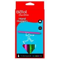Berol - Handhugger Pochette De 12 Crayons De Couleur ASSORTIMENT De Couleurs