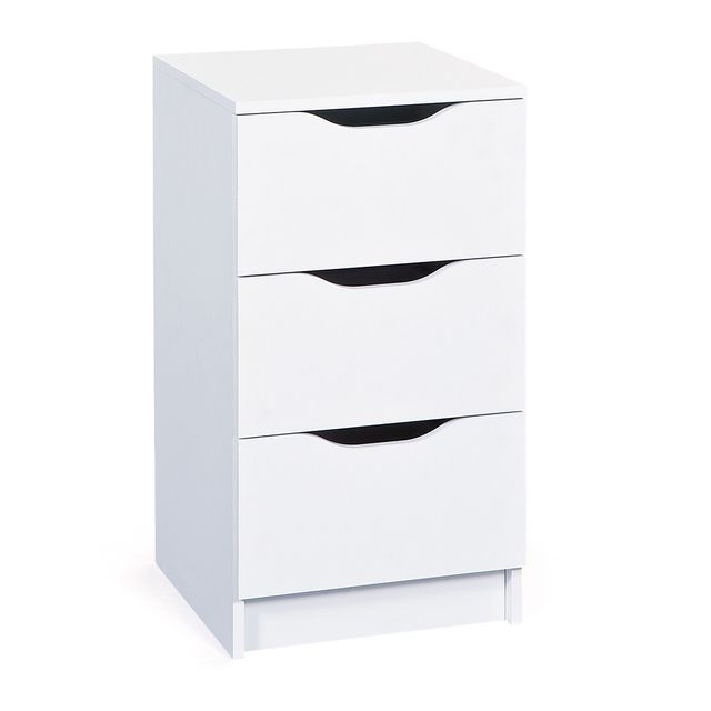 Altobuy Jenny Blanc - Commode 3 Tiroirs