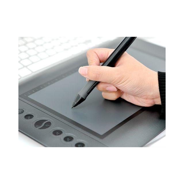 Auto-hightech Tablette Graphique avec Stylet, pour Dessin et Créations Professionnelles, 10'' x 6.25'' 25,4 cm x 16cm Noir
