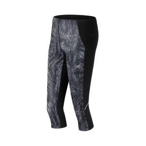 New Balance - Collants longs Capri Accelerate Printed gris femme ... e49277a2fb0