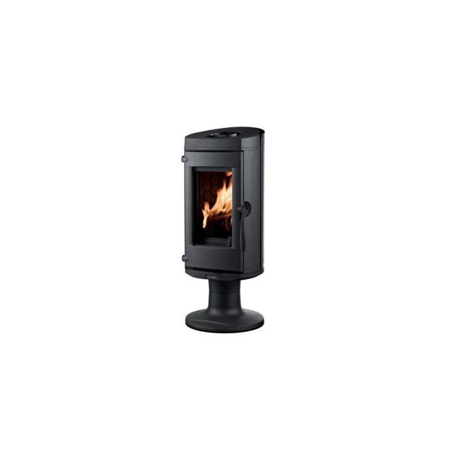 supra poele a bois noir fonte rond b ches de 25 cm horizontal 33 cm pas cher achat. Black Bedroom Furniture Sets. Home Design Ideas
