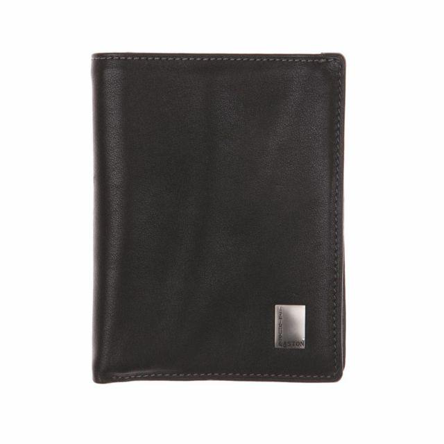 Arthur ASTON - Petit portefeuille 3 volets Arthur   Aston en cuir noir d94239ee6cc