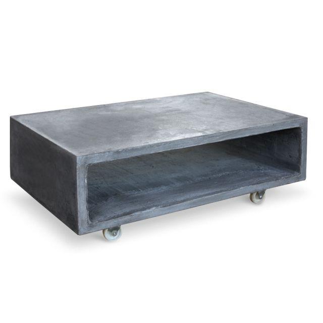 MENZZO Table basse Titop effet béton Gris Foncé