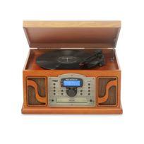 RICATECH - RMC250 - Chaine Hifi 6 en 1 - Lecteur CD - Platine vinyle - Lecteur K7 - Radio AM/FM - USB - Télécommande