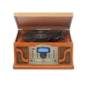 ricatech rmc250 chaine hifi 6 en 1 lecteur cd platine vinyle lecteur k7 radio am fm. Black Bedroom Furniture Sets. Home Design Ideas