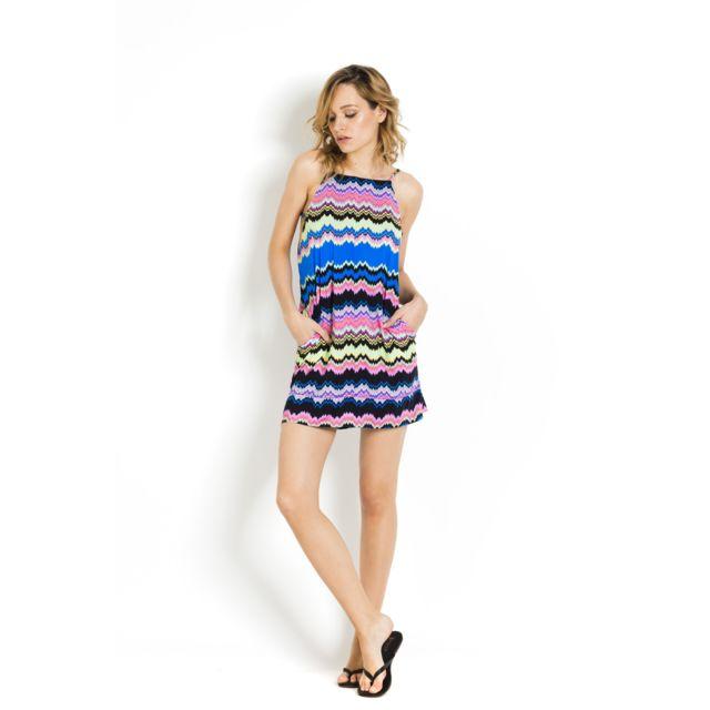 170afdd5fe4 Pilyq - Robe de plage ample droite courte Malia Multicolore - Clara - pas  cher Achat   Vente Robes - RueDuCommerce