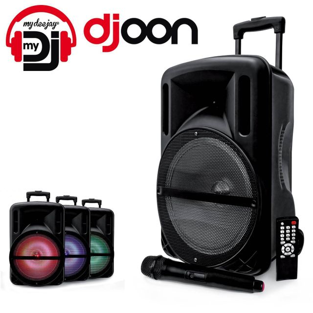 Mydj Enceinte 500W Djoon à Led Rvb Mobile batterie