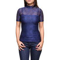Guess - Tee shirt femme W63pom - K4obo G770 Medieval Blue