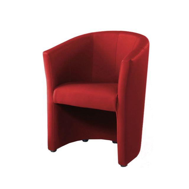 Nouvomeuble Fauteuil cabriolet rouge Phoenix 10