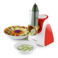 KLARSTEIN - Carrot & Rock Râpe électrique Râpe à légumes 150W 5 lames rouge