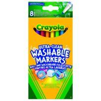Crayola - Lot de 8 feutres à dessiner ultra lavables