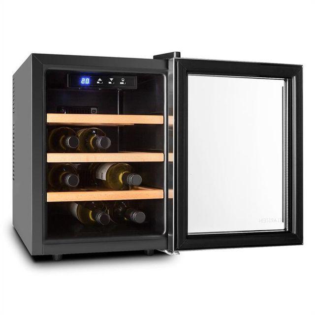 KLARSTEIN - Reserva 12 Uno Cave à vins réfrigérée 9 bouteilles 33 litres Inox LED