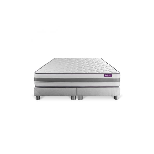 Septnuits Matelas 160x200 Double Sommiers 80x200 Memo Spring