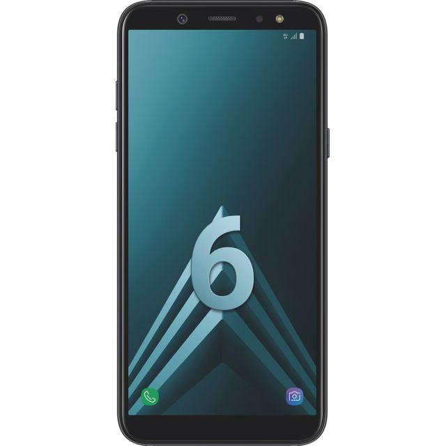"""Samsung Galaxy A6 - Double SIM - Noir Débloqué et compatible tous opérateurs - Ecran Panoramique tactile Super AMOLED HD+ 5,6"""" en 720 x 1480 pixels (282,5 ppi) - Android 8.0 Oréo - Surcouche Samsung Expérience 9.0 -"""