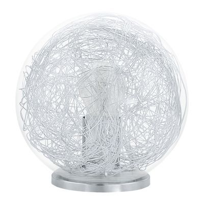 Lampe Luberio 1X60W Argent - Lighting - 93075
