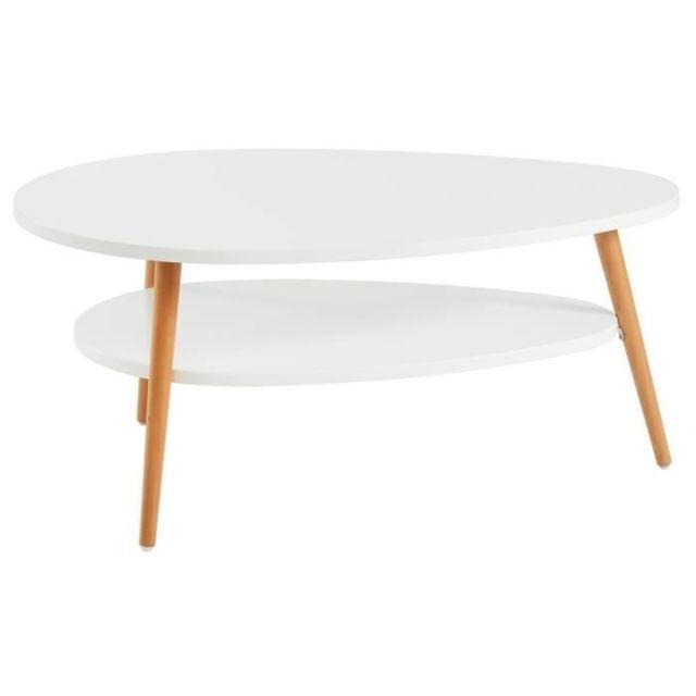 Marque Generique Table Basse Stone Table Basse Ovale Scandinave