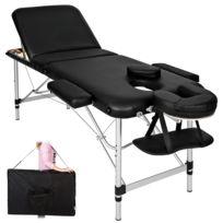 Aluminium De Massage Pliante Bois 3 Zones Cadre Noir1 En Housse Table dExWQCBero