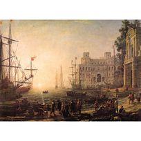 Ricordi Arte - Puzzle 2000 pièces : Port de mer avec la villa Medicis, Claude Lorrain