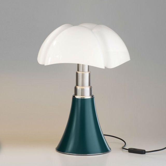 Martinelli Luce Mini Pipistrello-lampe Dimmer Touch Led H35cm Vert Agave - designé par Gae Aulenti