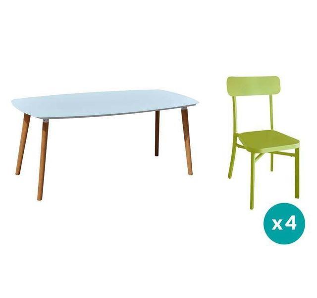 RESIDENCE - Salon de jardin DANANG / MICA - Couleur chaises - Vert ...