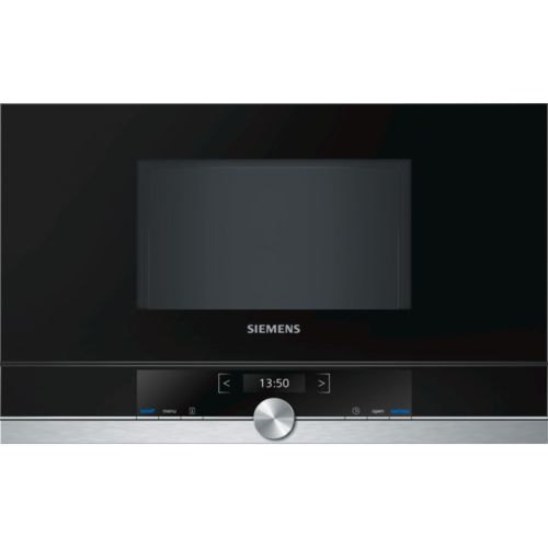 siemens micro ondes encastrable 21l 900w inox noir. Black Bedroom Furniture Sets. Home Design Ideas
