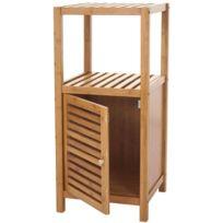 Decoshop26 - Etagère armoire meuble pour salle de bain en bambou 80x36x34cm Sdb04021