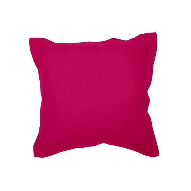 soleil d 39 ocre housse de coussin en coton panama 60x60 cm fuschia pas cher achat vente. Black Bedroom Furniture Sets. Home Design Ideas