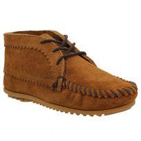 Minnetonka - Suede Ankle Boot velours Femme-37-Marron