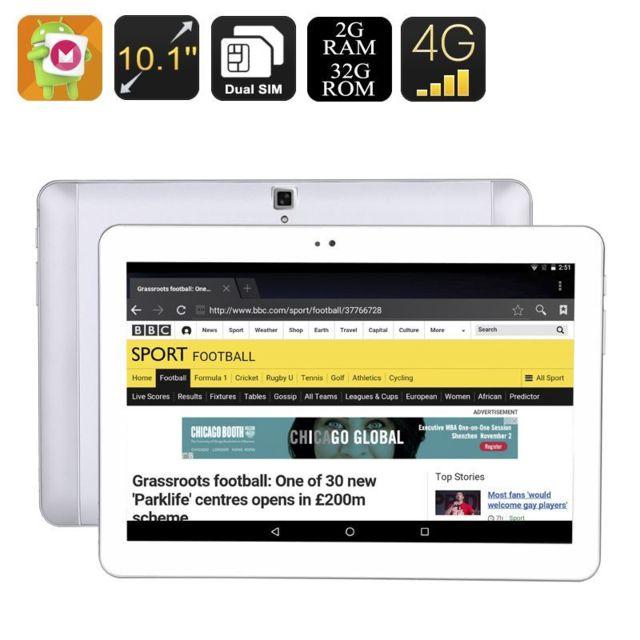 Yonis Tablette 10 Pouces 4G Android 6.0 Ecran Ips Hd 2Gb Ram Dual Sim 32Go