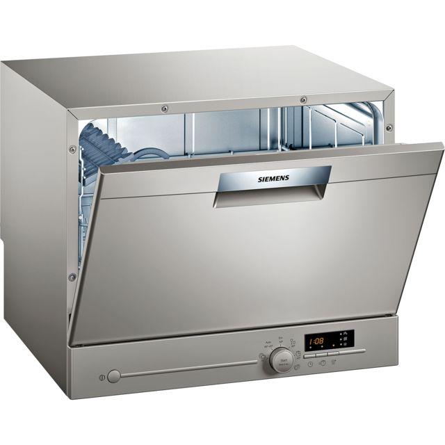 SIEMENS lave-vaisselle compact 6 couverts a+ pose-libre inox - sk26e822eu