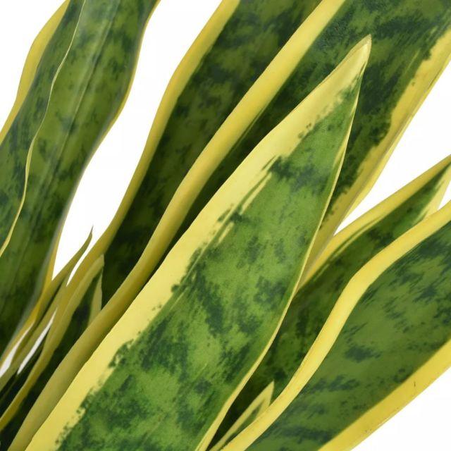 Icaverne - Fleurs et plantes artificielles famille Plante artificielle avec pot Sansevière 65 cm Vert