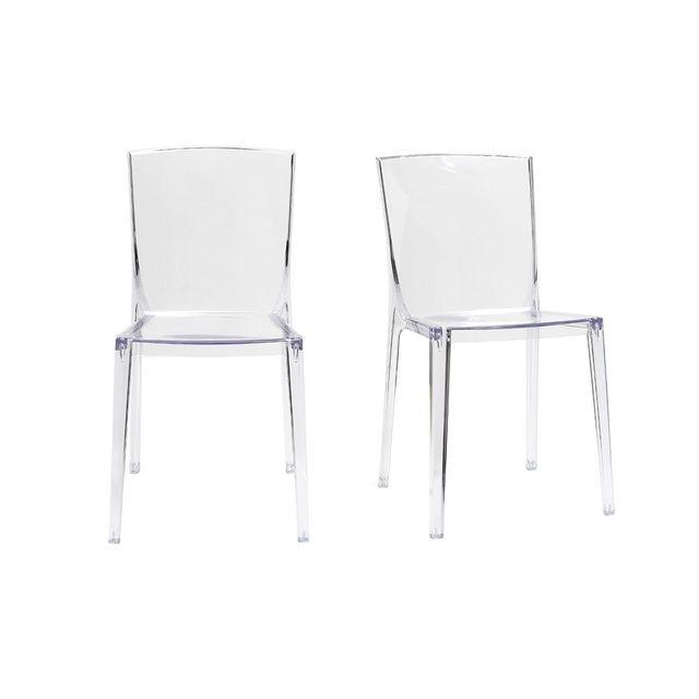 miliboo chaises design transparentes empilables lot de 2 island - Chaise Design Transparente