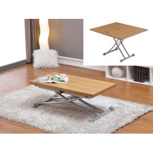 simple venteunique table extensible up u down clever couverts chne with table basse up and down. Black Bedroom Furniture Sets. Home Design Ideas
