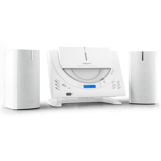 ONECONCEPT Vertical 80 Chaîne stéréo CD USB MP3 AUX -blanc