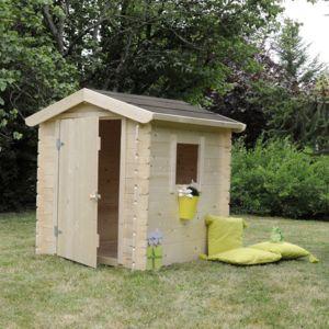 soulet cabane maisonnette pour enfant en bois brut peindre romane pas cher achat vente. Black Bedroom Furniture Sets. Home Design Ideas