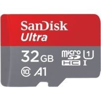 SANDISK - Carte micro SD Ultra 32 Go100MB/s C10 UHS U1 A1 Card+Adaptateur