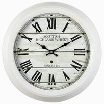 Ikra - Imagine Scottish Horloge - Blanc - 47 cm