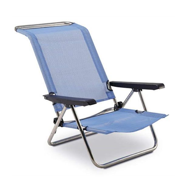 EREDU Chaise de plage-lit 5 positions