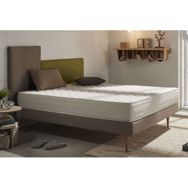 NATURALEX Matelas à mémoire de forme Viscotex® modèle ERGO+ 70x190 cm mousse HR Blue Latex® - à 7 zones - 18 cm -adaptable aux lit