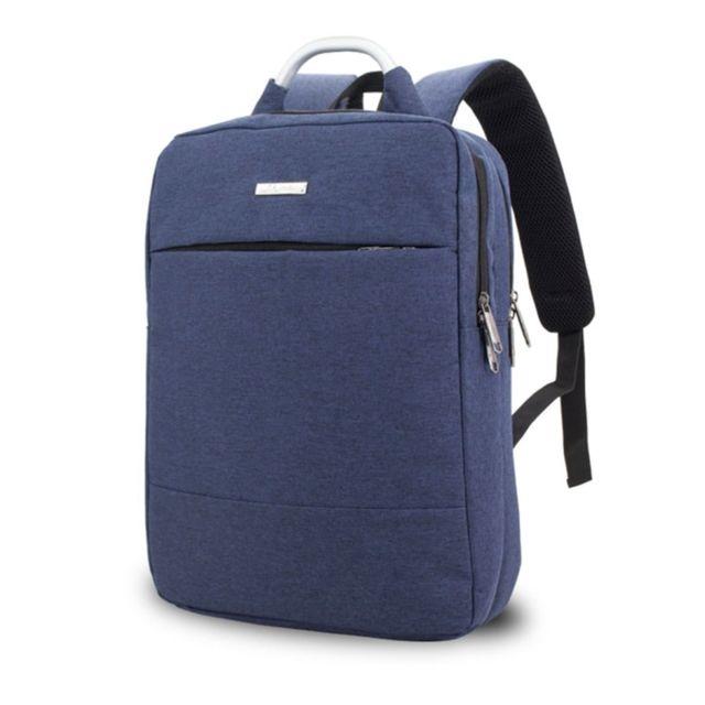 Sacoche ordinateur 15.6 17 pouces bleu pour 15,6 et ci dessous Multi fonction Nylon Épaule Main Tablet Sac À Dos Serviette