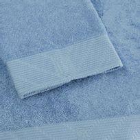 Bailet - Serviette de douche uni - Intemporel - bleu ciel - Coton peigné 100