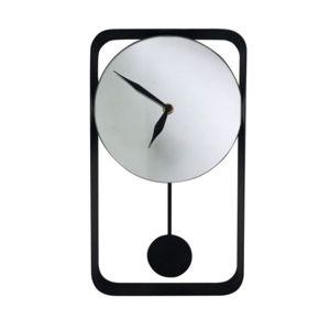 Rue du commerce horloge miroir murale noir pas cher for Miroir carrefour