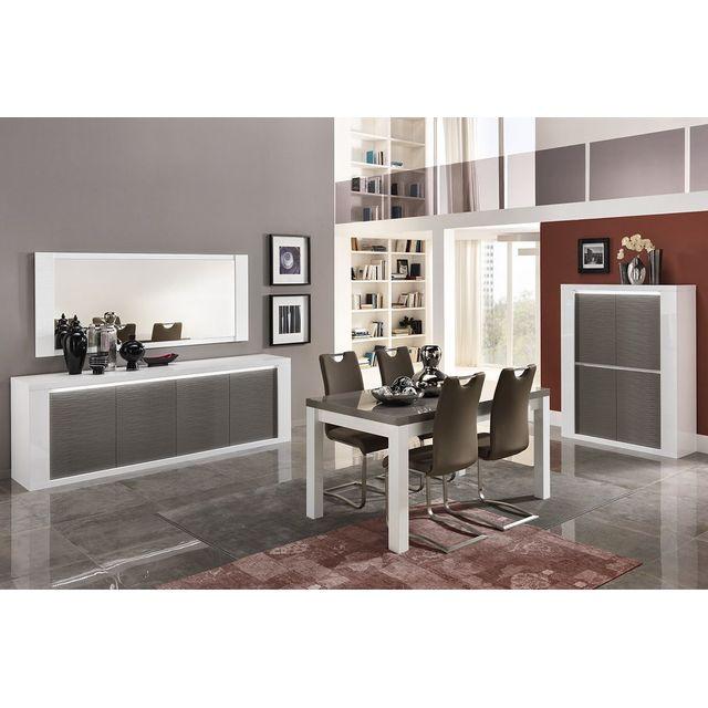 COMFORIUM - Ensemble salle à manger complète coloris blanc ...