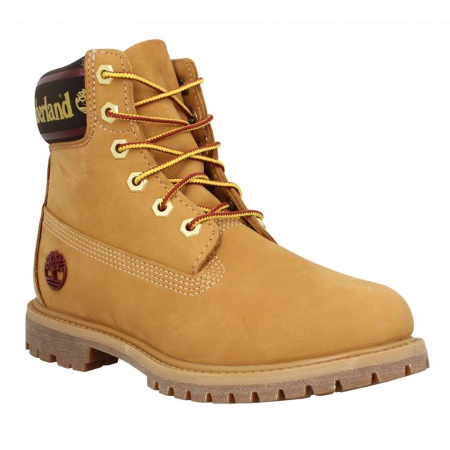 Timberland 6in Premium Wp Logo velours Femme 38,5 Ocre