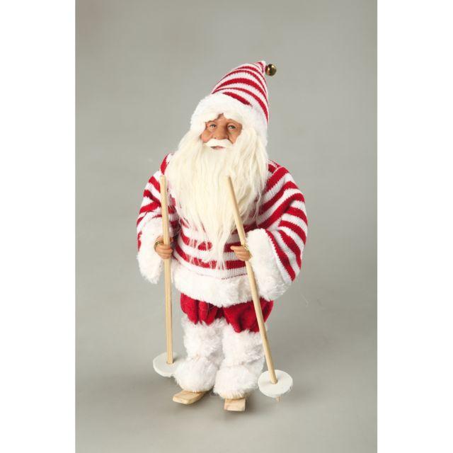Père Noël à skis