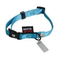 Rene Martin - Collier nylon réglable - 30/45 cm - bleu