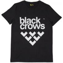 Black Crows - T-shirt Full Logo Black / White